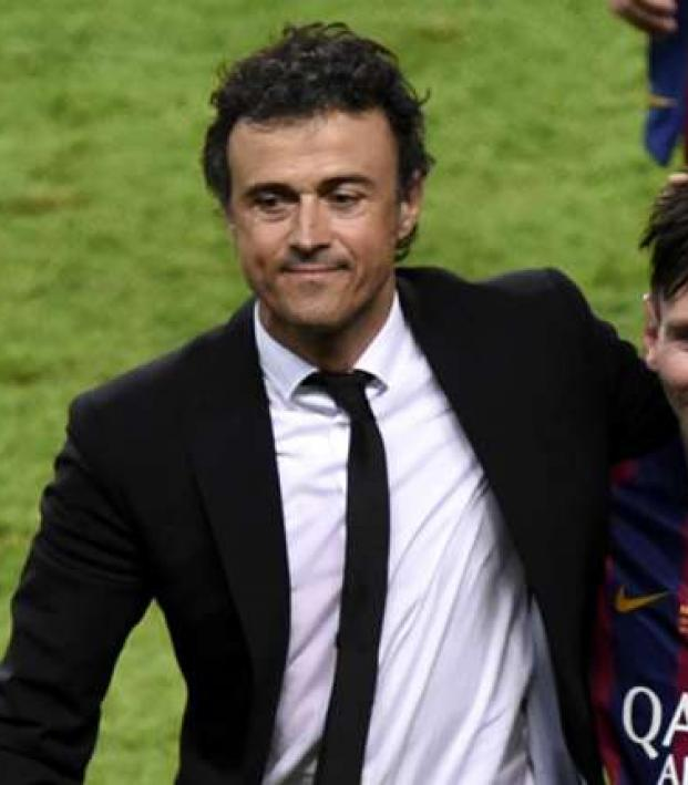 Luis Enrique and Lionel Messi