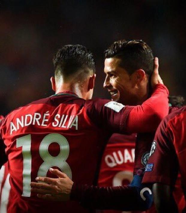 Andre Silva and Cristiano Ronaldo