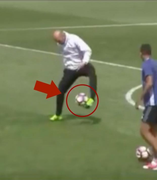 Zinedine Zidane in training