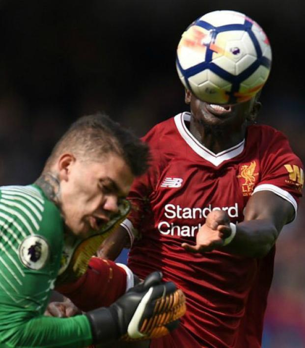 Sadio Mane red card