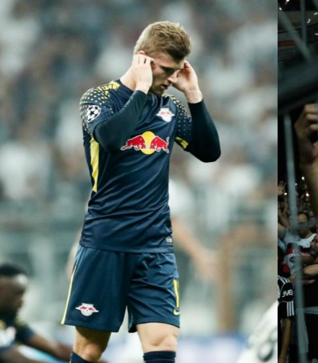 Timo Werner struggles with Besiktas crowd noise.