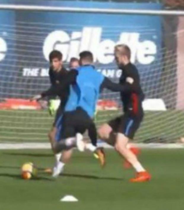 Lionel Messi training goal