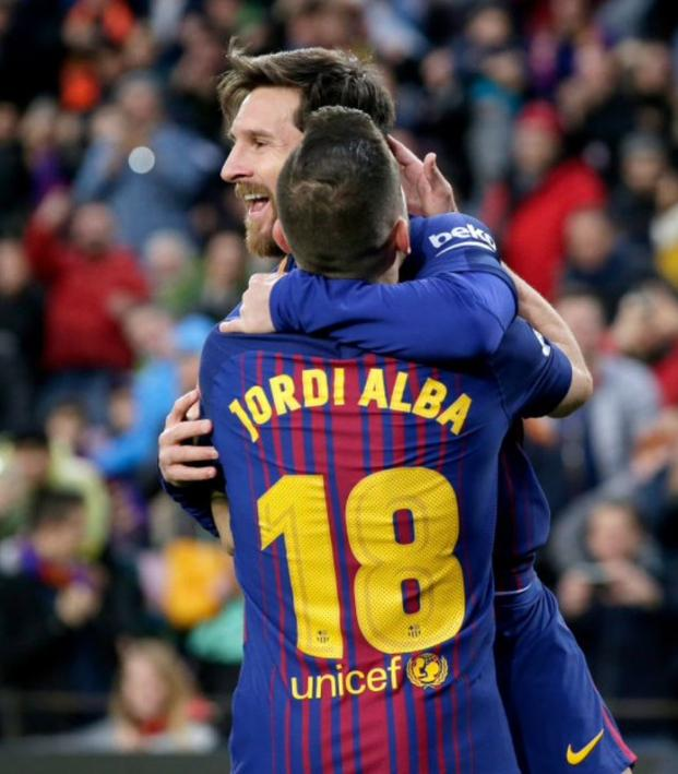 Messi and Jordi Alba