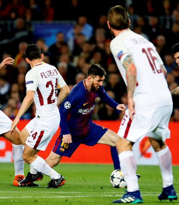 Own goals doom Roma in Barcelona