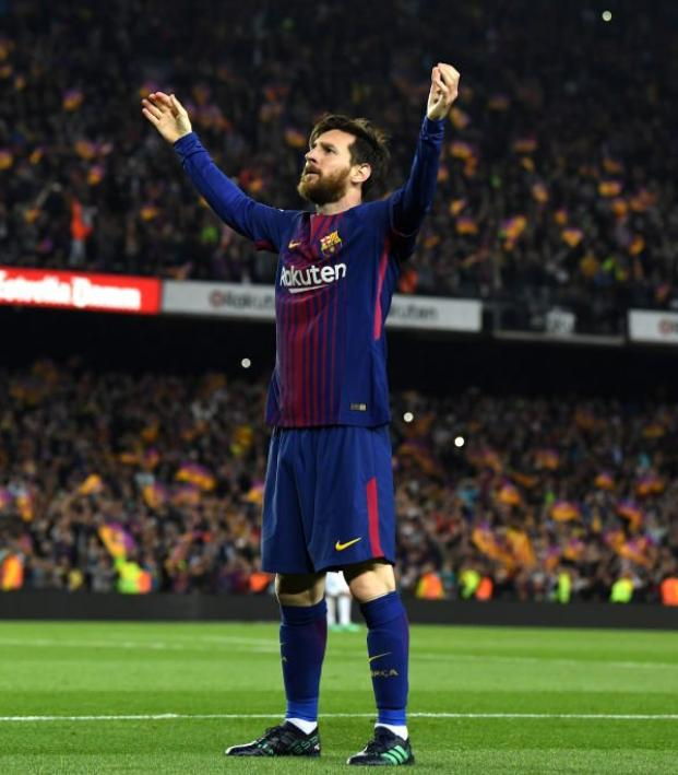 the latest bbd2f fa799 Lionel Messi 2018 El Clasico Goal vs Real Madrid