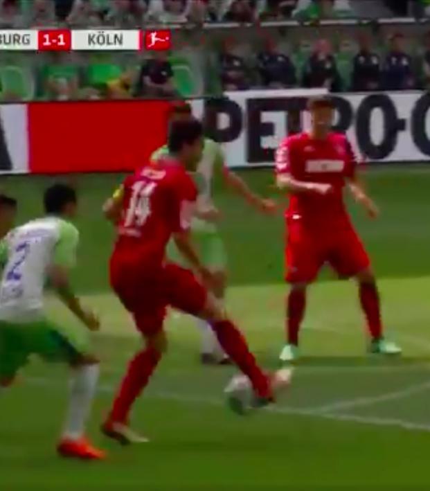 Jonas Hector goal vs Wolfsburg