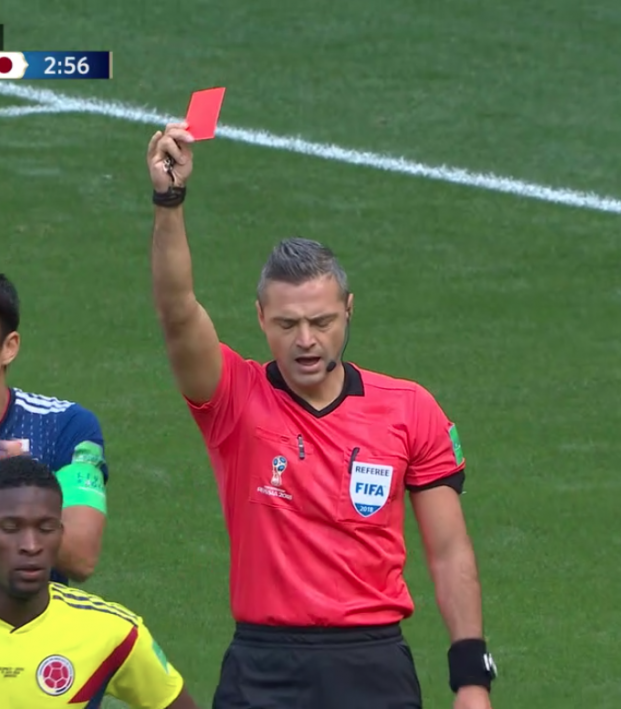 Carlos Sanchez Red Card