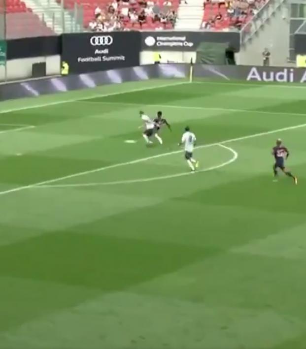 Weah Goal vs Bayern Munich