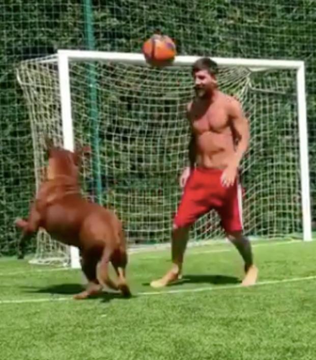 Lionel Messi dog
