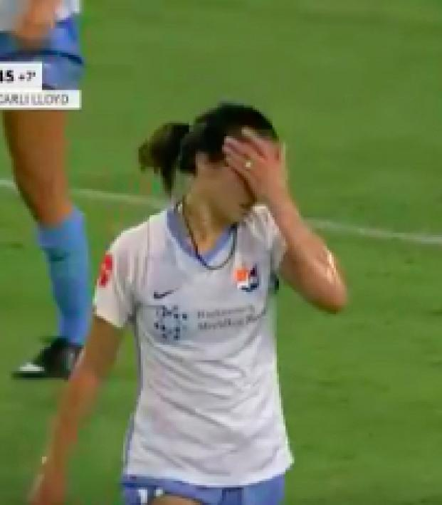 Carli Lloyd red card