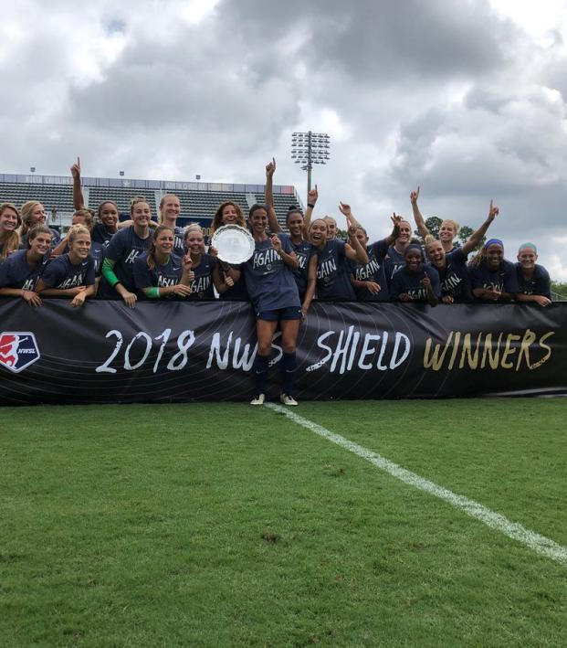NC Courage 2018 NWSL Shield winners