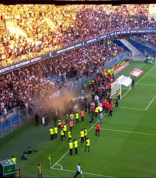Montpellier crowd trouble
