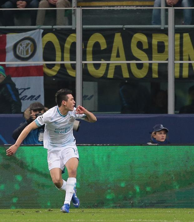 Chucky Lozano Goal vs Inter Milan