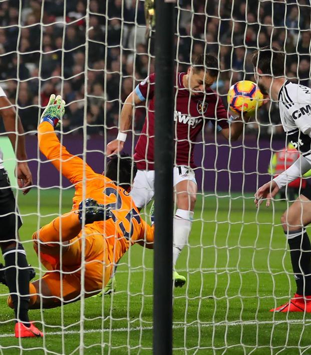 Chicharito goal vs Fulham