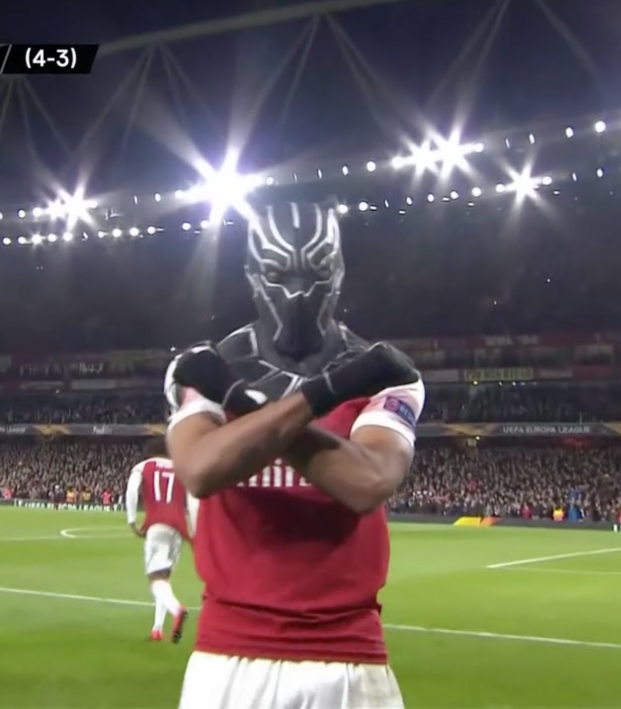Auba Black Panther Celebration