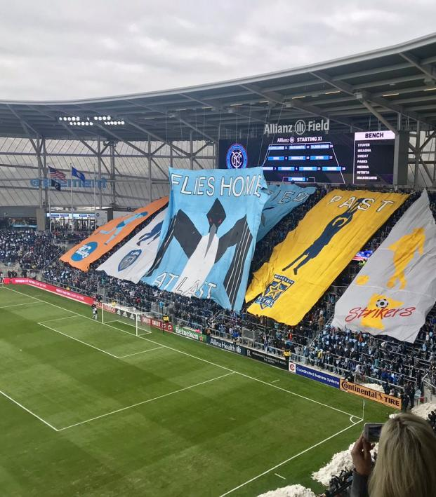 a79920f55f9 Minnesota United Stadium Opens With Epic Tifo