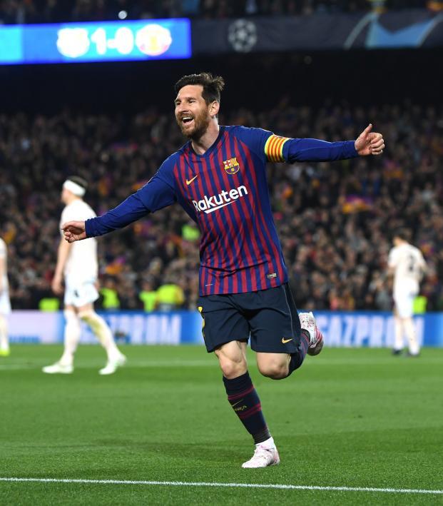 Lionel Messi Goal vs Man Utd