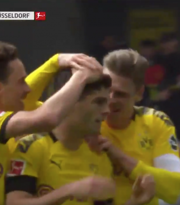 Pulisic Goal vs Dusseldorf
