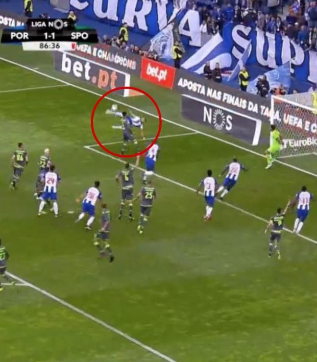 Hector Herrera Goal vs Sporting