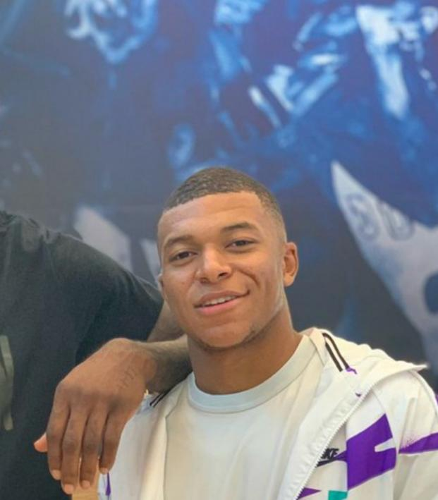 Kylian Mbappe with LeBron James
