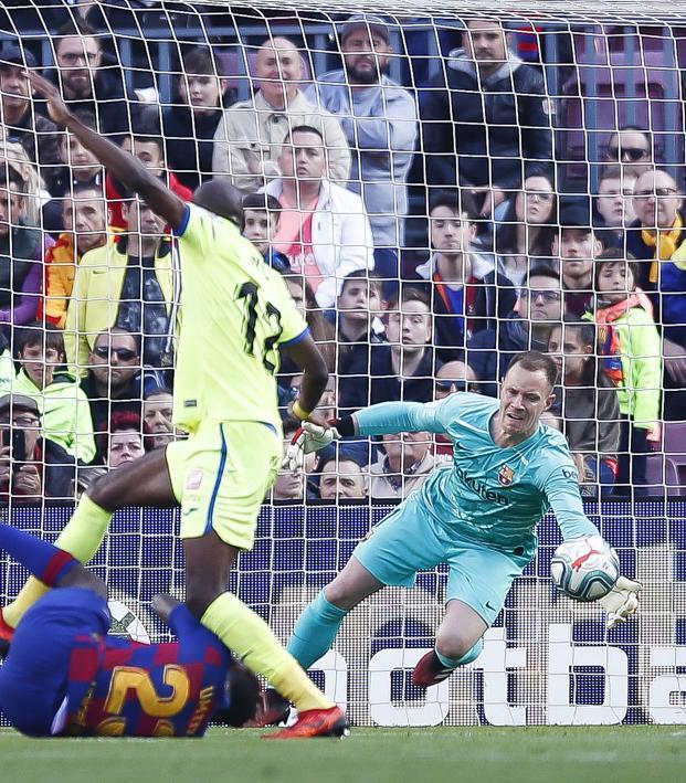 Barcelona vs Getafe Highlights Ter Stegen Save