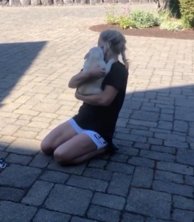 Lindsey Horan dog