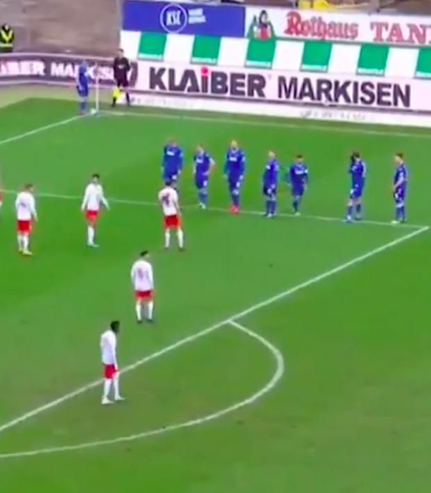 Funny corner kick routine