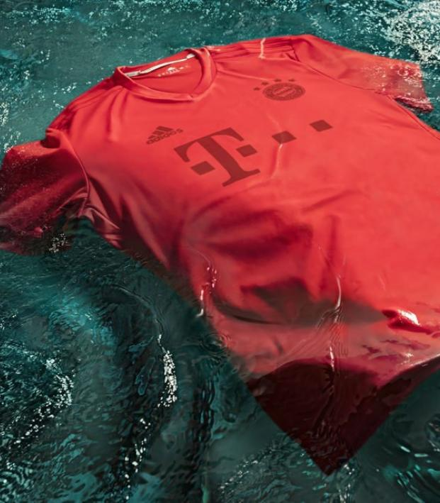 Bayern's eco conscious jersey floating in waste
