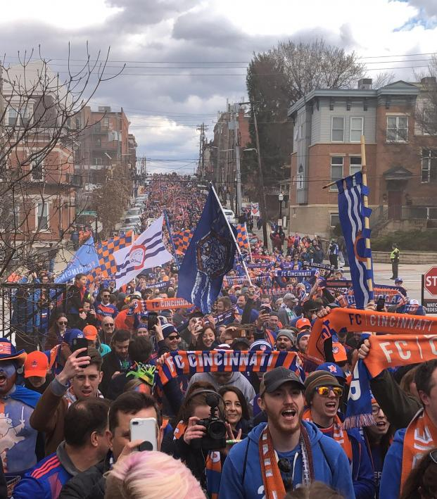 FC Cincinnati march