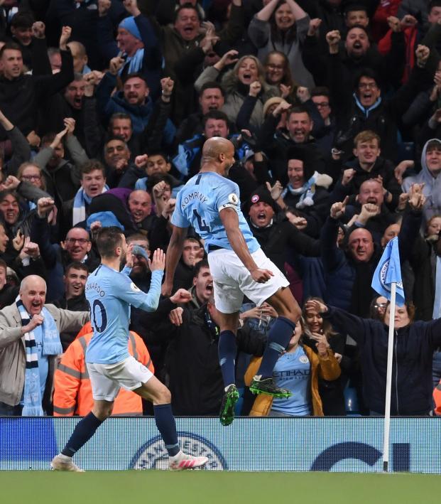 Vincent Kompany goal vs Leicester City