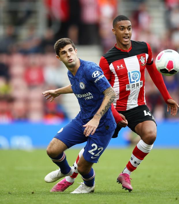 Christian Pulisic Chelsea assist vs Southampton
