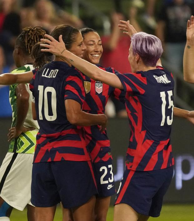 First Goal In Q2 Stadium History Goes To Christen Press