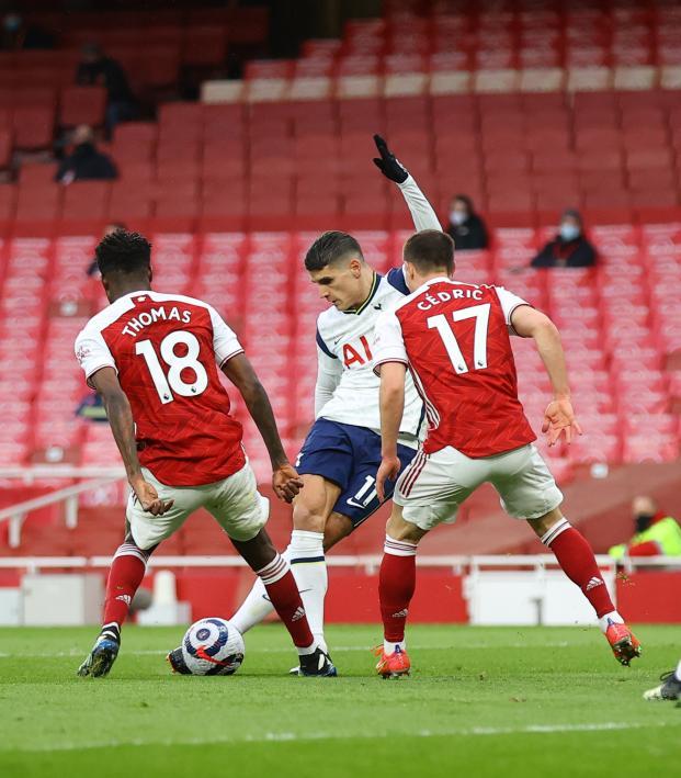 Erik Lamela rabona vs Arsenal
