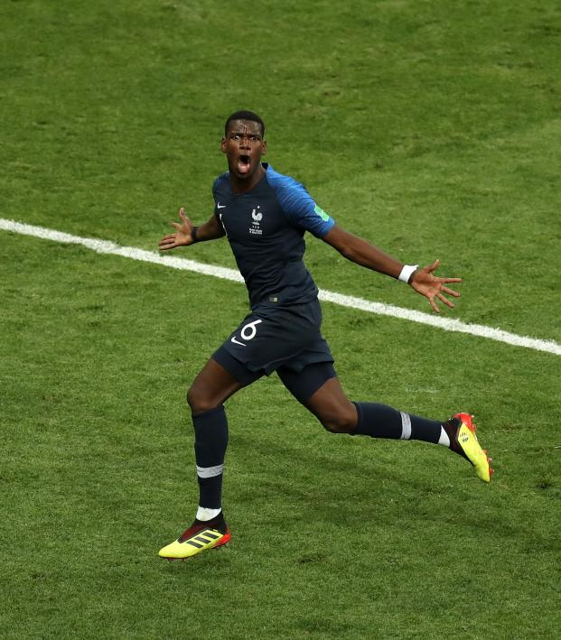 Paul Pogba goal vs Croatia World Cup final