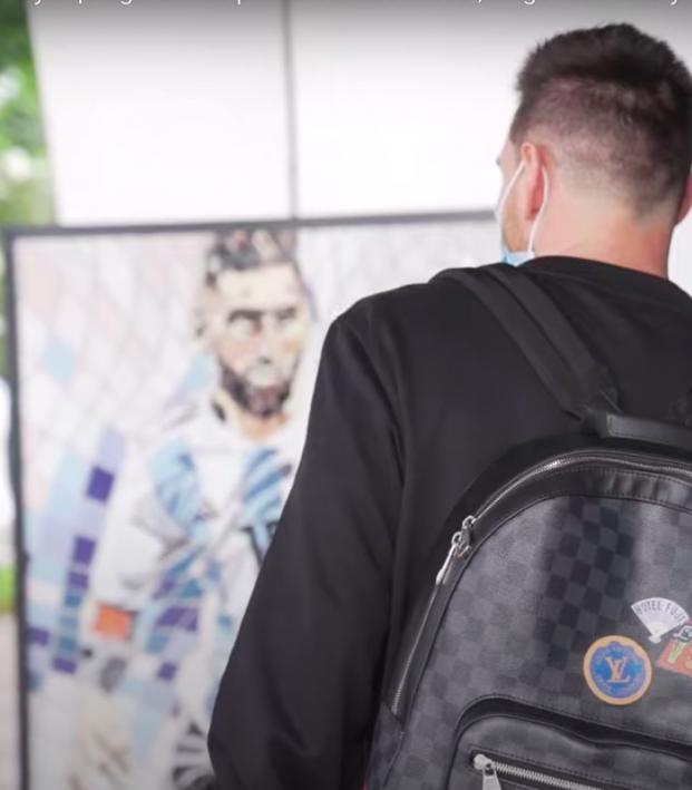 Lionel Messi mosaic