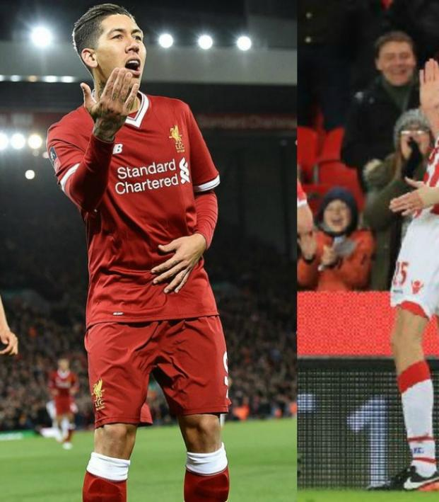 Roberto Firmino, Peter Crouch and Bruce Arena