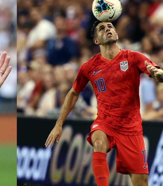 Eden Hazard and Christian Pulisic