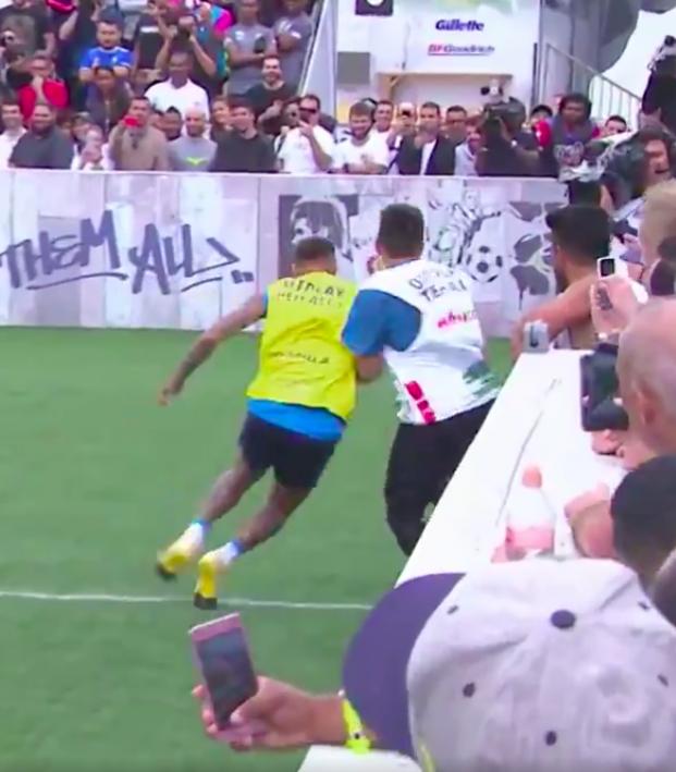 Neymar fouls a fool