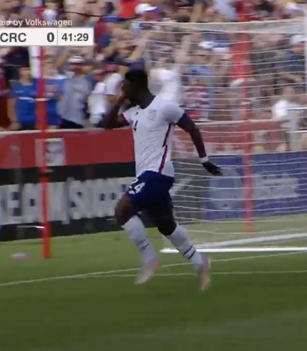 Daryl Dike goal vs Costa Rica