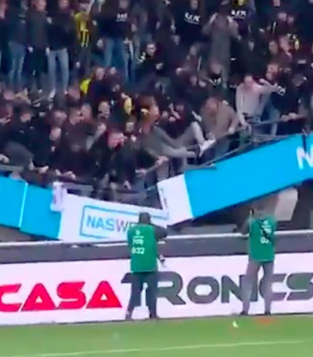 Vitesse stand collapses NEC Goffertstadion