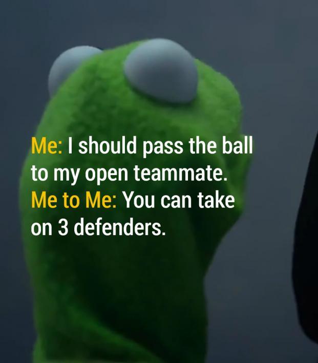 Me to Me Soccer Meme