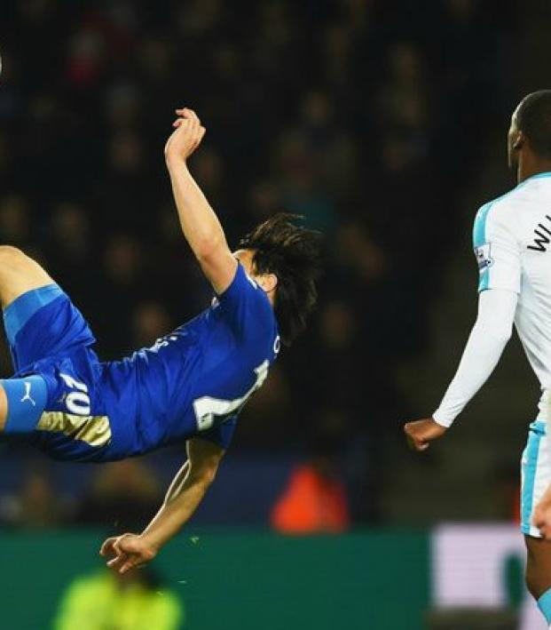 Shinji Okazaki's goal proved to be the game winner against Newcastle on Monday.
