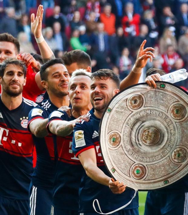 Bayern Munich title celebrations