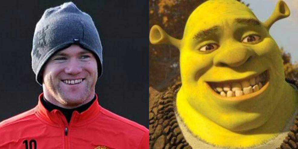 Wayne Rooney Shrek Cartoon