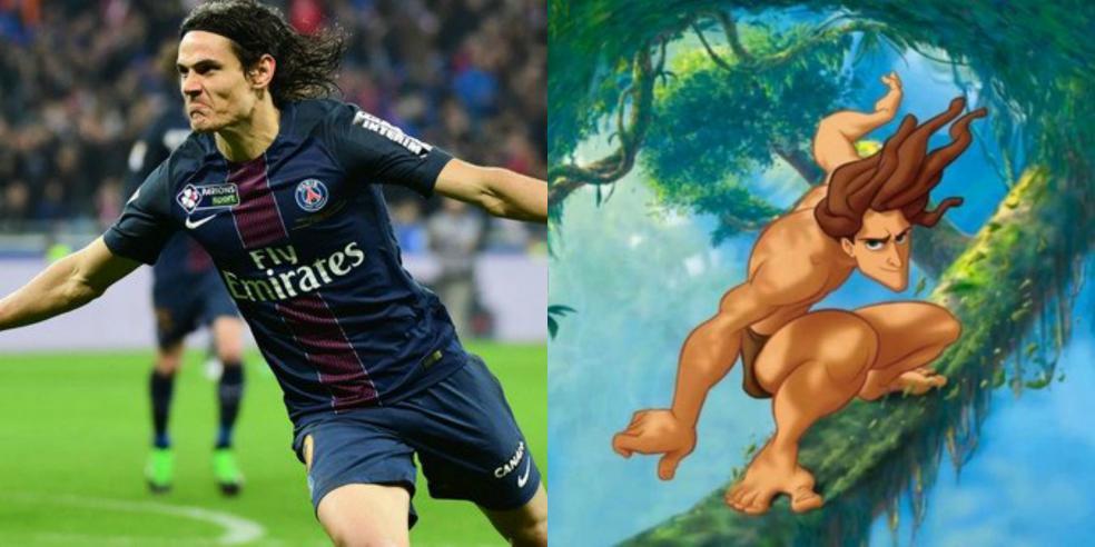 Edinson Cavani Tarzan Cartoon