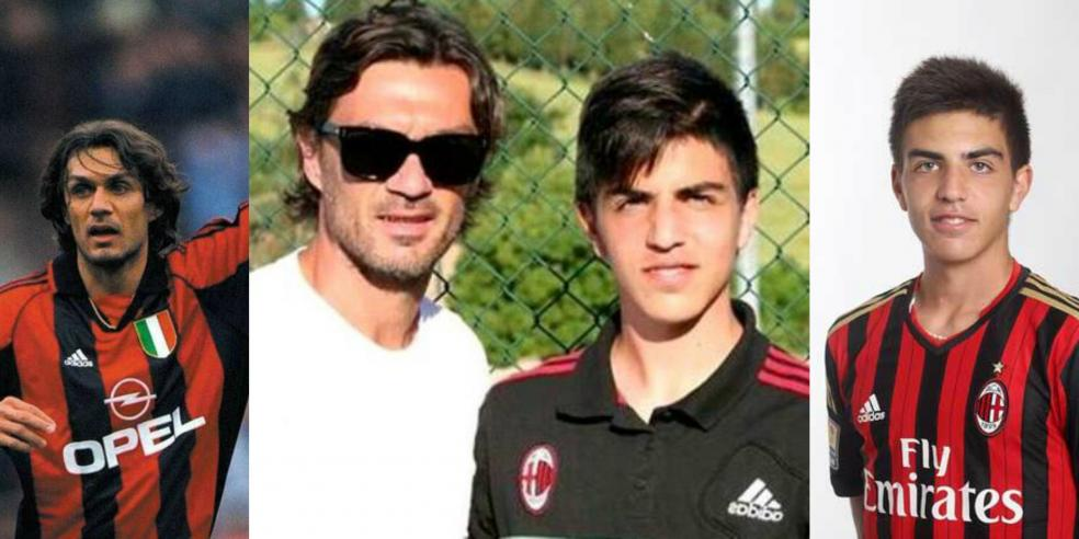 Paolo Maldini and Christian Maldini