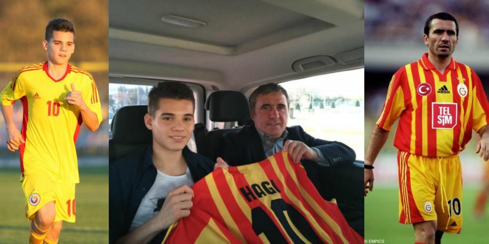 Gheorghe Hagi and Ianis Hagi