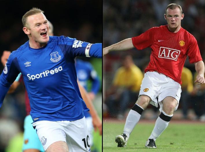Wayne Rooney in 2017 vs 2007