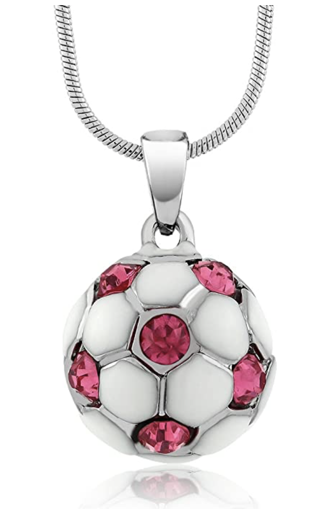 White Soccer Ball Gemstone