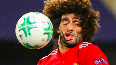 Fellaini Takes Ball To The Face